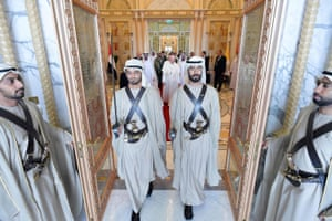 Abu Dhabi, United Arab Emirates Pope Francis is welcomed at a ceremony at the Presidential Palace during his three-day visit to the UAE. He is the first pontiff to visit an Arab Gulf state