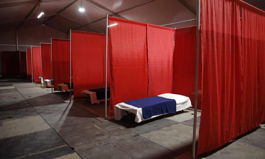 A coronavirus isolation and quarantine complex for homeless people in Las Vegas.