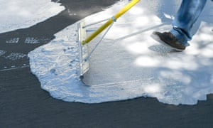 Cool coating can reduce surface street temperature by roughly 10F (5.5C).