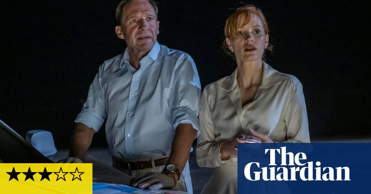 The Forgiven review – Chastain and Fiennes light up darkly comic thriller