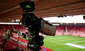 TV cameras in the stands at Southampton.