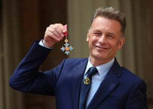 Chris Packham with his CBE in 2019