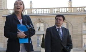 Marine Le Pen with Jean-François Jalkh