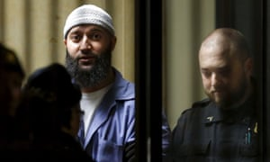Adnan Syed leaves a courthouse in Baltimore, Maryland, in 2016. Syed is serving a life sentence after he was convicted of killing Lee and burying her body in a Baltimore park.