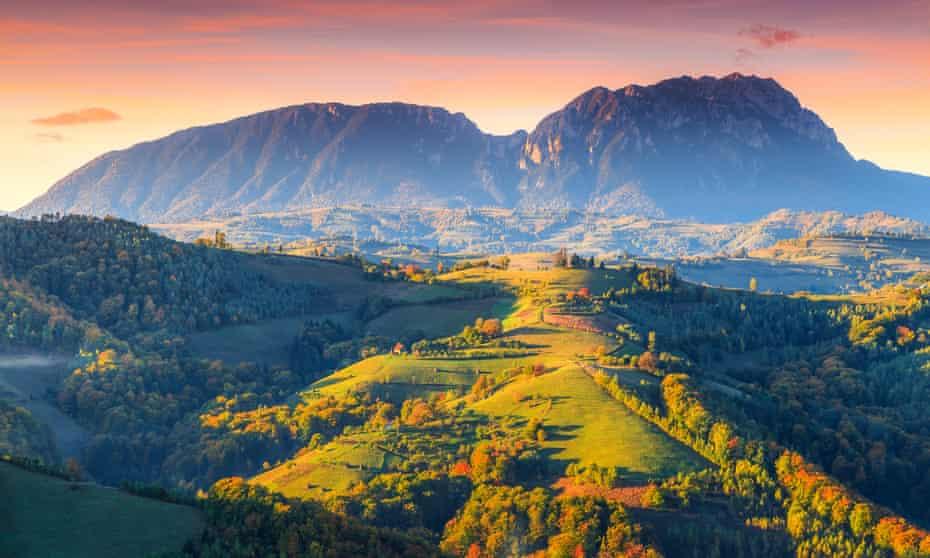 Holbav in Transylvania, autumn.