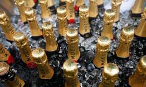 Bottles of Moet and Chandon