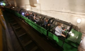 London's Mail Rail snakes through underground tunnels that have lain abandoned for years at the new Postal Museum.
