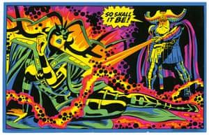 Third Eye black light poster; art, Jack Kirby; 1971.