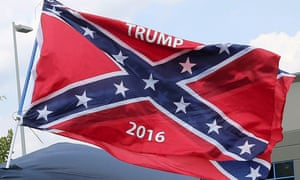 A vendor flies the Confederate flag before a Donald Trump rally in Pittsburgh last week.
