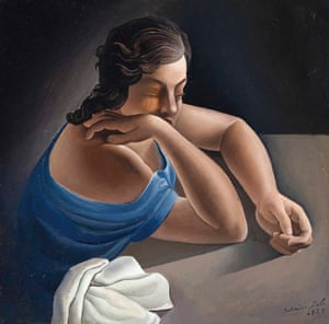 Figura en una taula - Figure at a Table (Ana María Dalí, the Artist's Sister)