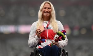 Sammi Kinghorn of ParalympicsGB with her bronze medal.