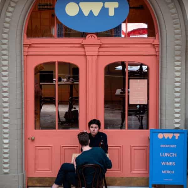 Couple eating outside OWT