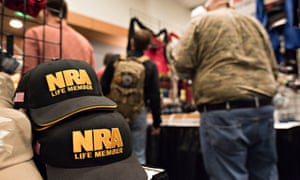 An NRA meeting in Nashville. The great irony of America's gun debate is that anti-gun politicians boost profits for the firearms industry, and pro-gun politicians hurt them.