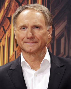Highly symbological …Dan Brown at the Berlin premiere of the film version of Inferno in Berlin.