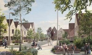 Nationwide's planned housing development in Oakfield, Swindon.
