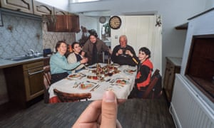 The family's first Christmas in the house, 1991, with Dorothea's aunt and uncle, Edna and Paul, visiting from Devon.