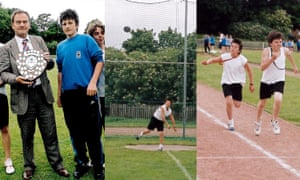 12 year old Harry during sports day at St Mary's High School in May 2005. Maguire is presented with the House award, throwing the discus and is beaten in the 400m race- by his biggest rival at the time.