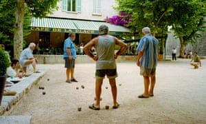 A typical pétanque scene in Provence, 2003.