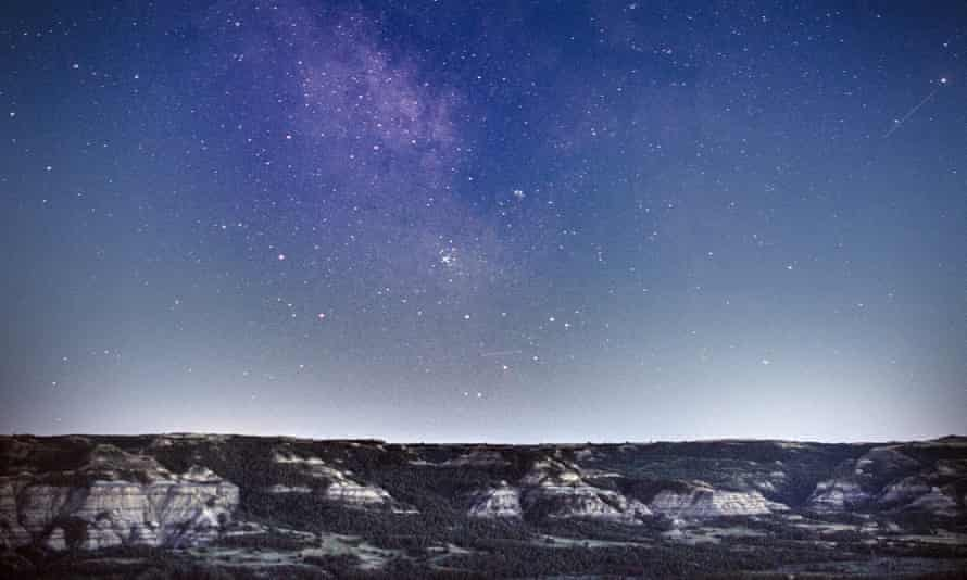 Stargazing at Theodore Roosevelt National Park.