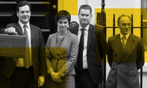 George Osborne with Treasury ministers and James Sassoon