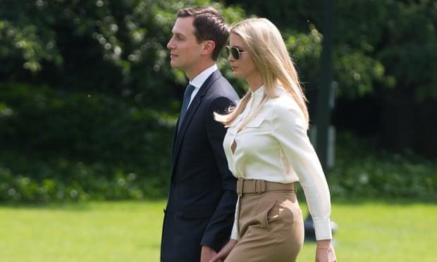 Jared Kushner and Ivanka Trump at the White House in June.