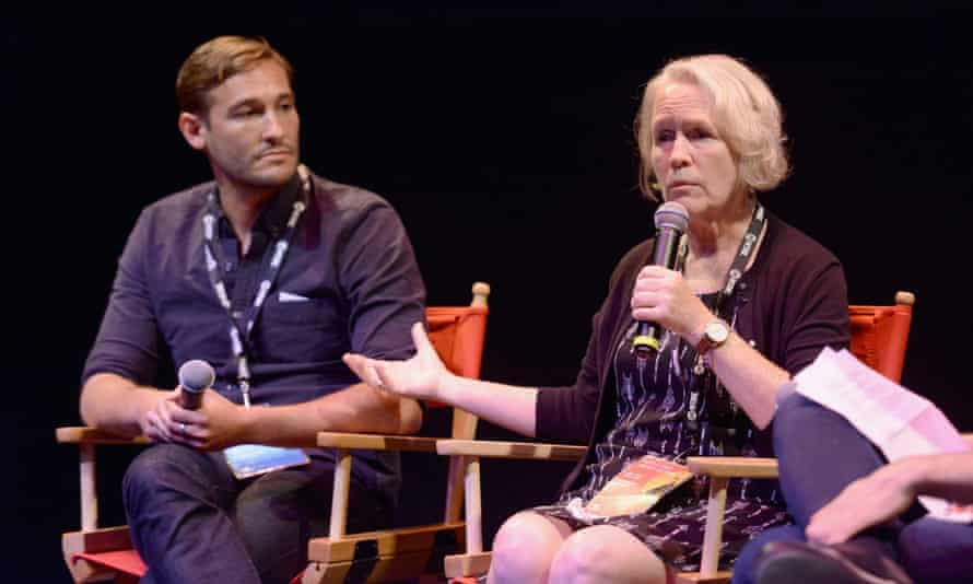 The Keepers director Ryan White with survivor Jean Wehner
