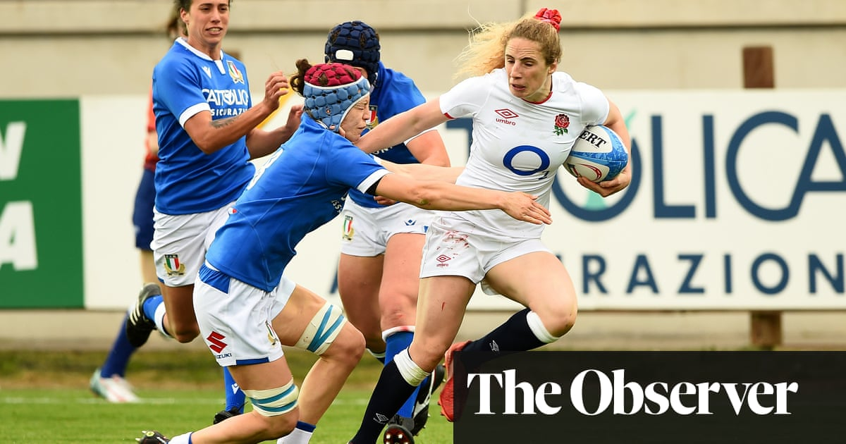Abby Dow at the double as England thrash Italy in Women's Six Nations