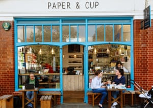 Paper & Cup cafe in Shoreditch, London.