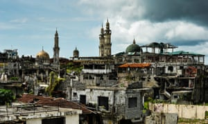 The ruined city of Marawi on the Philippine island of Mindanao