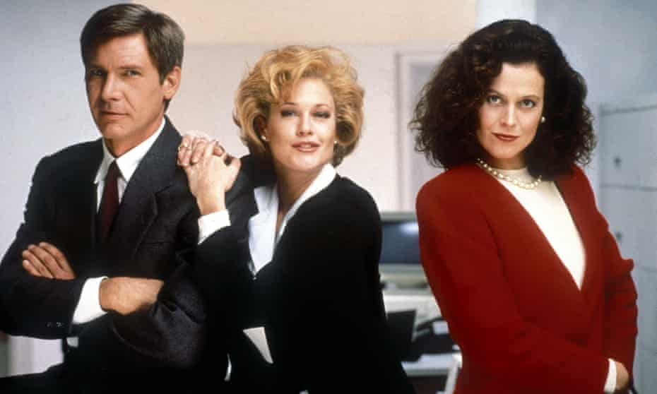 Harrison Ford, Melanie Griffith and Sigourney Weaver in Working Girl.