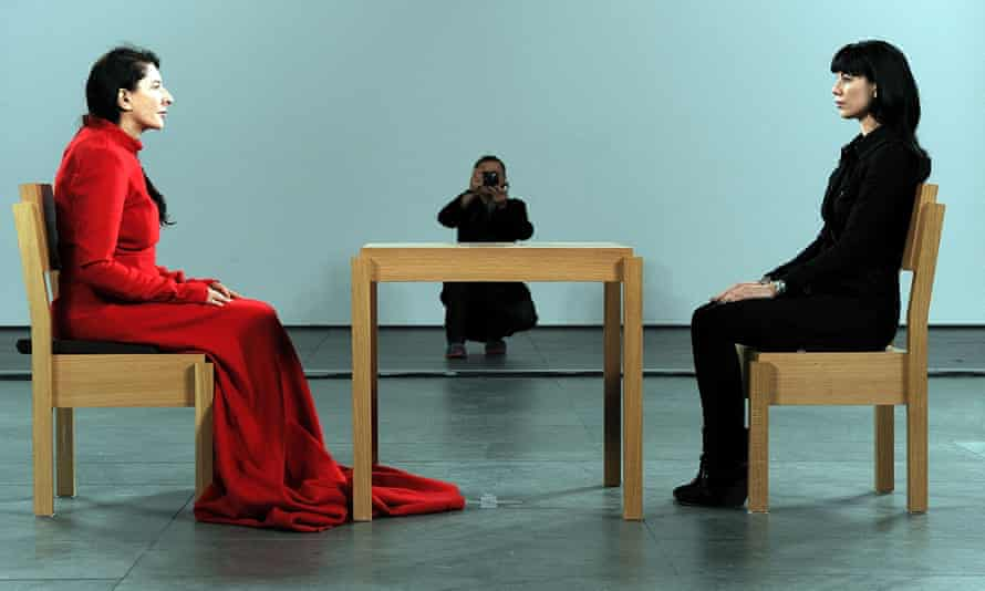 Most visible … Marina Abramovic's The Artist is Present at MoMA.