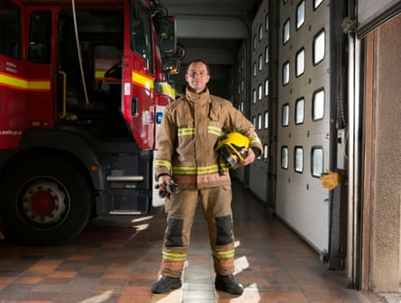 David Hillier, former Arsenal and Portsmouth footballer turned firefighter.