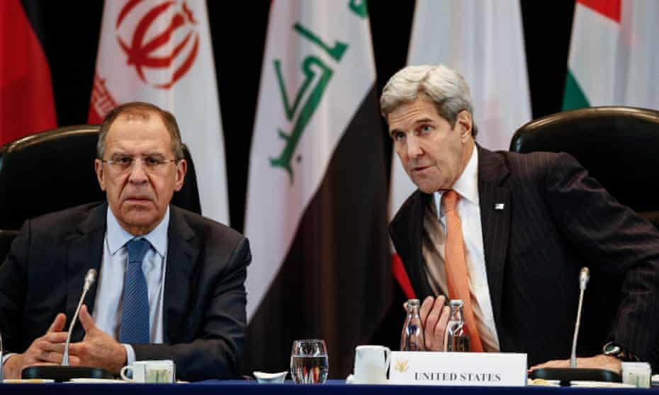 Russia's foreign minister Sergei Lavrov and US secretary of state John Kerry.