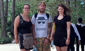 L to R: Izzy Squire, Christian Sloan and Beth Anderson in Vietnam.