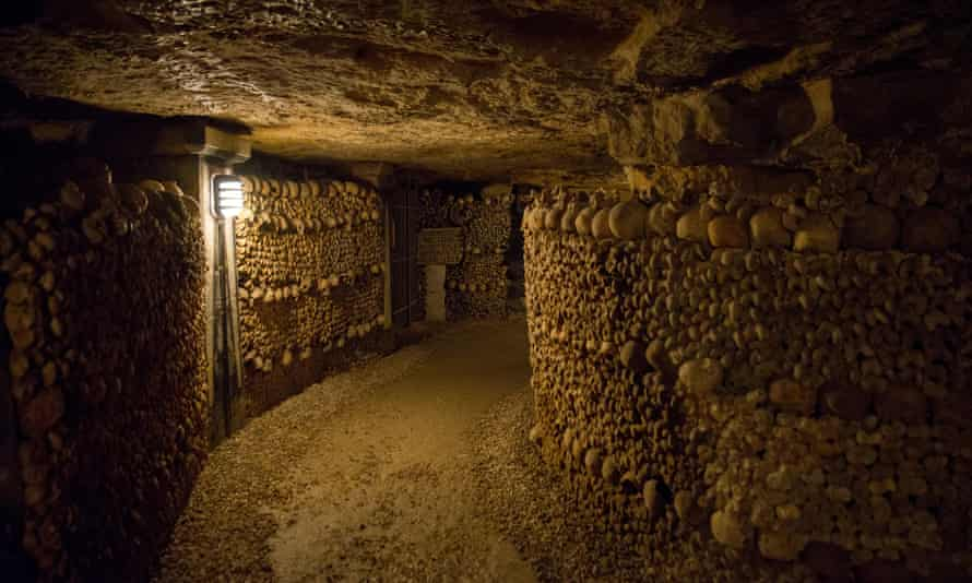 The Paris catacombs, with their 'earthy, almost pastoral aroma, like rain-soaked chalk'.
