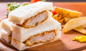 Tonkatsu sandwich ... the best post-shift meal possible.