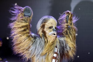 Chewbacca enjoys his moment on the red carpet