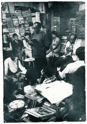 Langston Hughes and Ted Joans at Shakespeare and Company