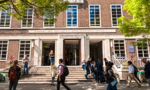 Students on campus at SOAS, University of London.