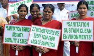 Campaigners for decent sanitation.