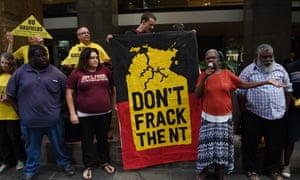 Protesters against fracking