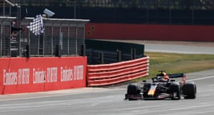Verstappen crossed the line to win the race.