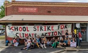 A school strike in Bendigo, NSW, last week