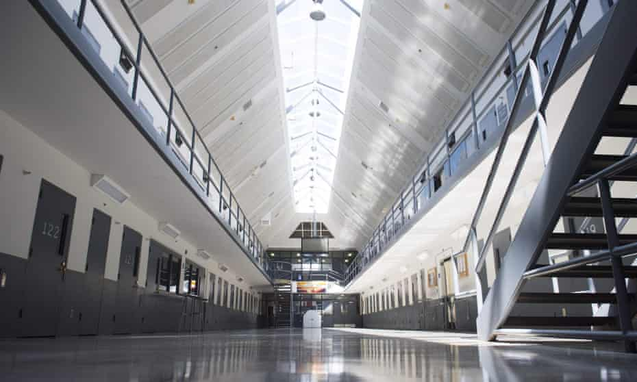 A prison cell block at the El Reno federal correctional institution in El Reno, Oklahoma. Twenty-nine federal inmate have died in the Bureau of Prisons' custody since late March.