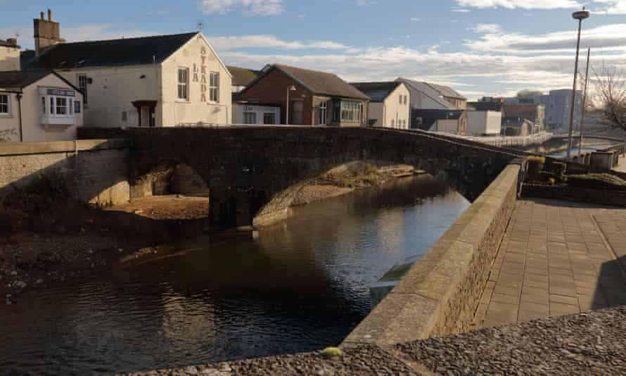 The river Ogmore at Bridgend. South Wales police said they were not looking for anyone else in connection with the incident.