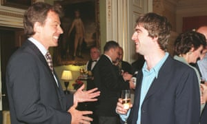 Tony Blair welcomes Noel Gallagher to No10 shortly after being elected in 1997.