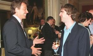 Tony Blair Noel Gallagher 1997