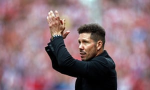 Diego Simeone at the Vicente Calderón in 2017.