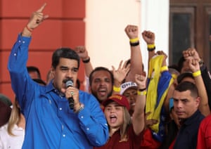 Venezuela's president Nicolás Maduro at a rally this month.