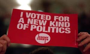 A Jeremy Corbyn poster